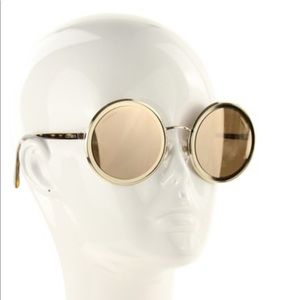 Authentic Chanel Gold Round Sunglasses